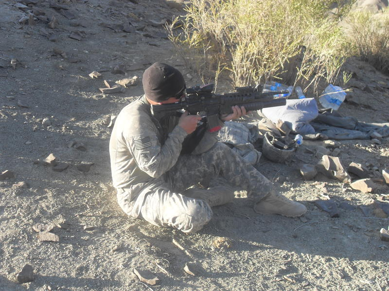 Sgt. Anthony Gazvoda in Afghanistan