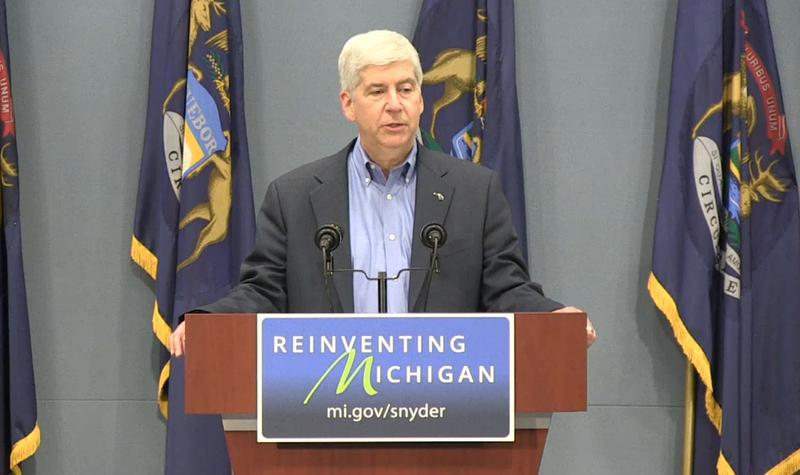 Gov. Rick Snyder talks about Wednesday's criminal charges against two MDEQ employees and one Flint official.