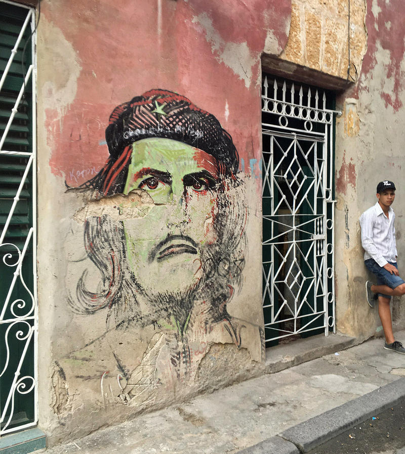 A mural of Ernesto Che Guevara.