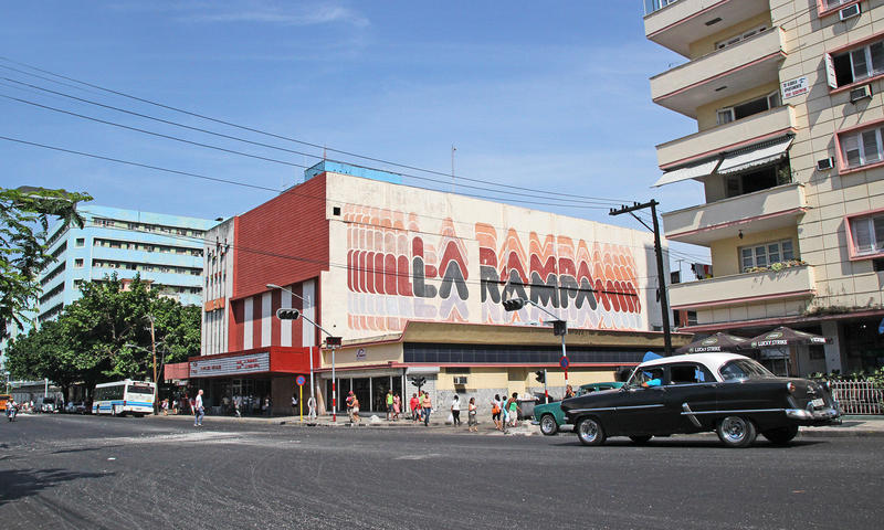 Calle 23 known as La Rampa is a Wi-Fi hotspot.
