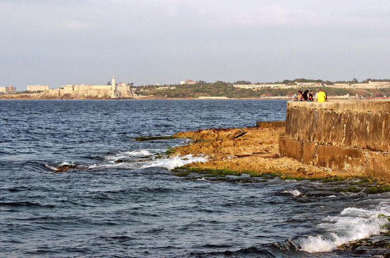 Havana Bay, Malecón seawall and El Morro.