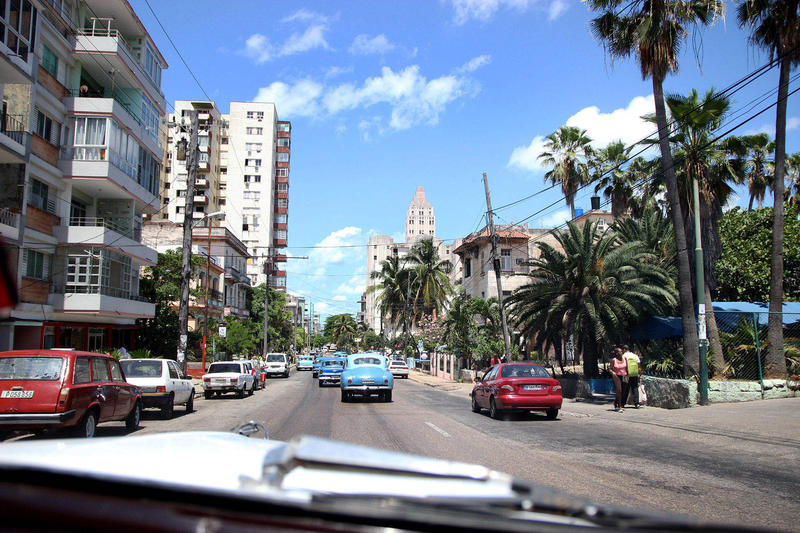View from the car in Havana.