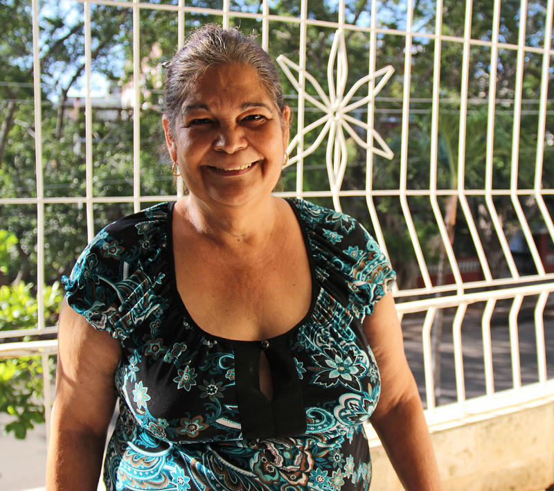 Yolanda Aguilar, 57, spends most of the year with her family in Florida.