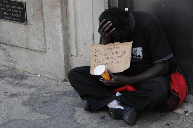 A panhandler.