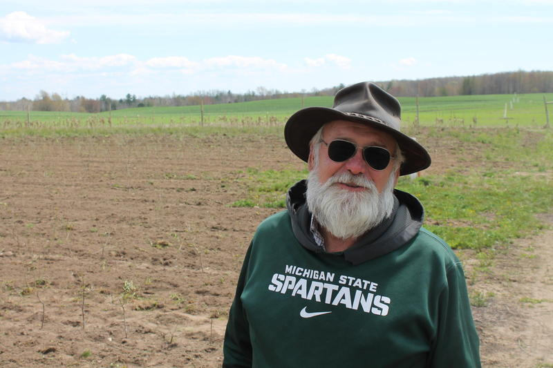 Calvin Lutz is a cherry farmer in Manistee County.