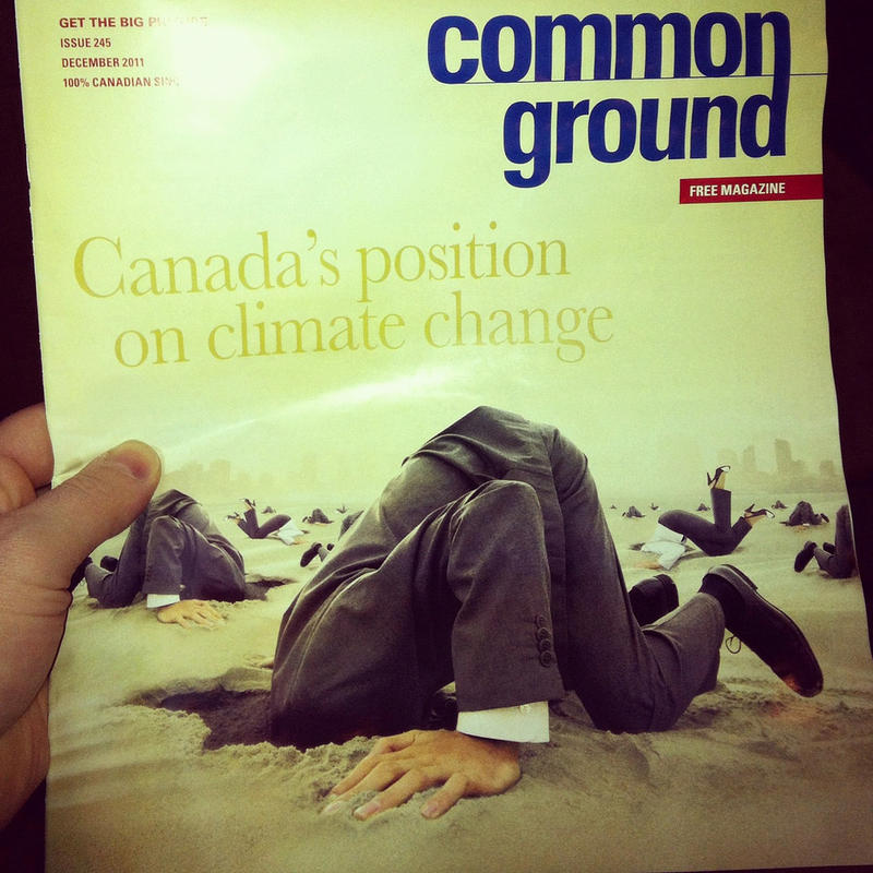 A magazine cover criticizing Canada's stance on climate change.