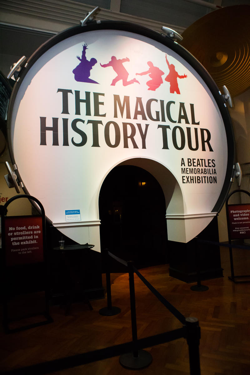 The Magical History Tour exhibit entrance