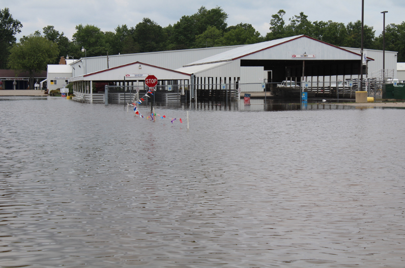 Without climate action, Michigan could see more extreme weather events like this flood in Ingham County.