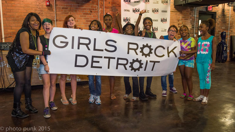 The group showcase from Girls Rock Detroit