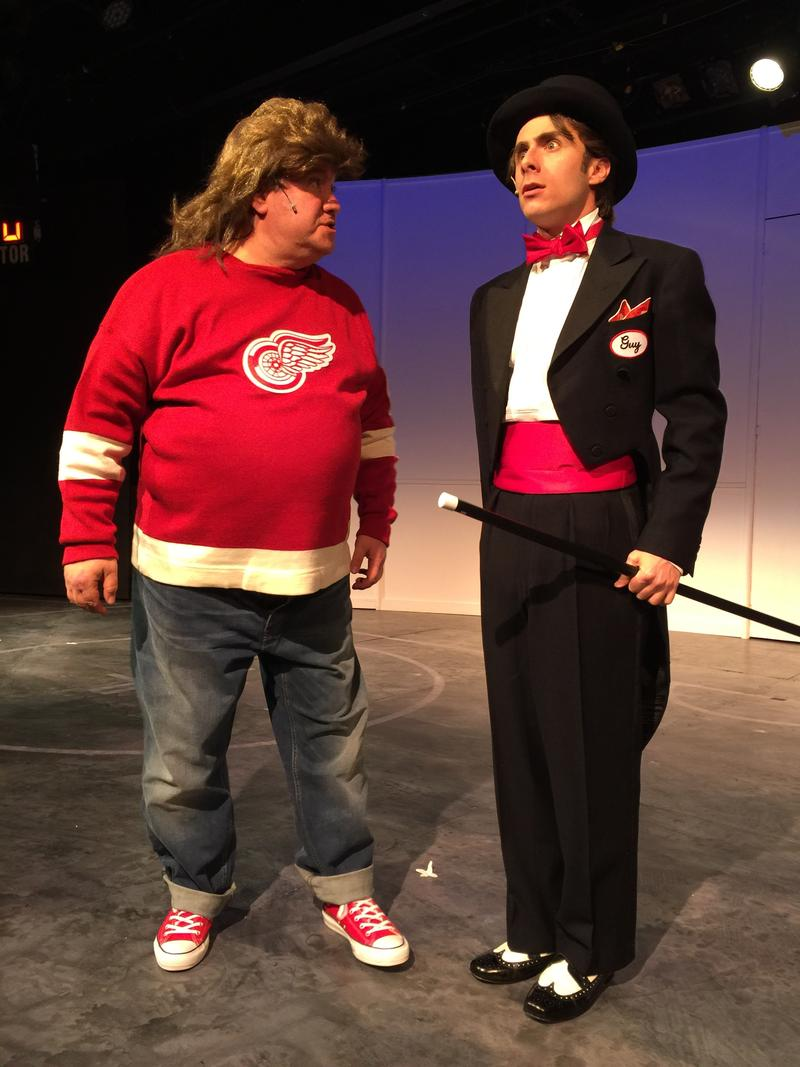 The musical combines sports humor with live theater, along with a nod to Detroit's hockey history.
