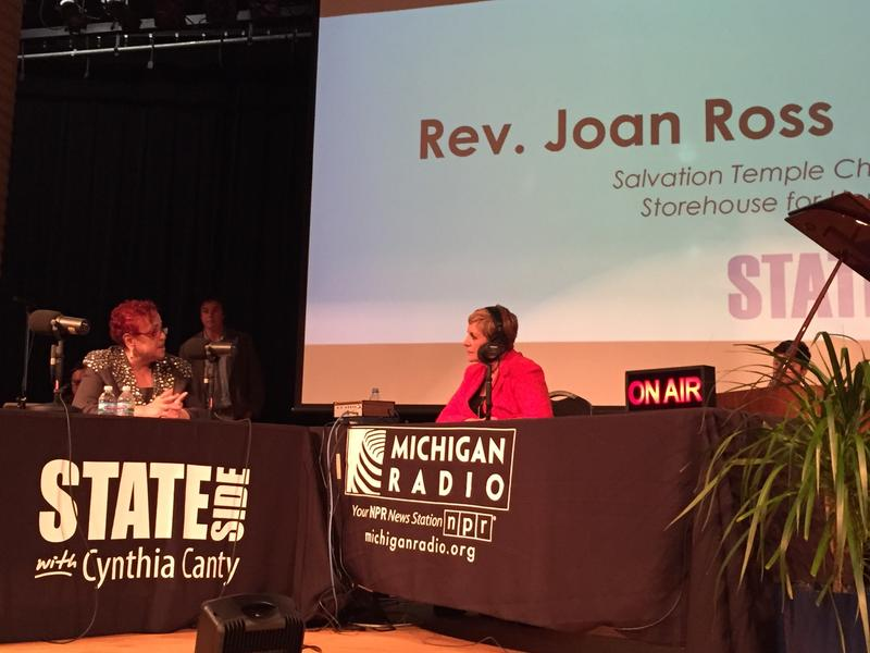 Reverend Joan Ross joined Cynthia Canty in Detroit for today's Stateside.