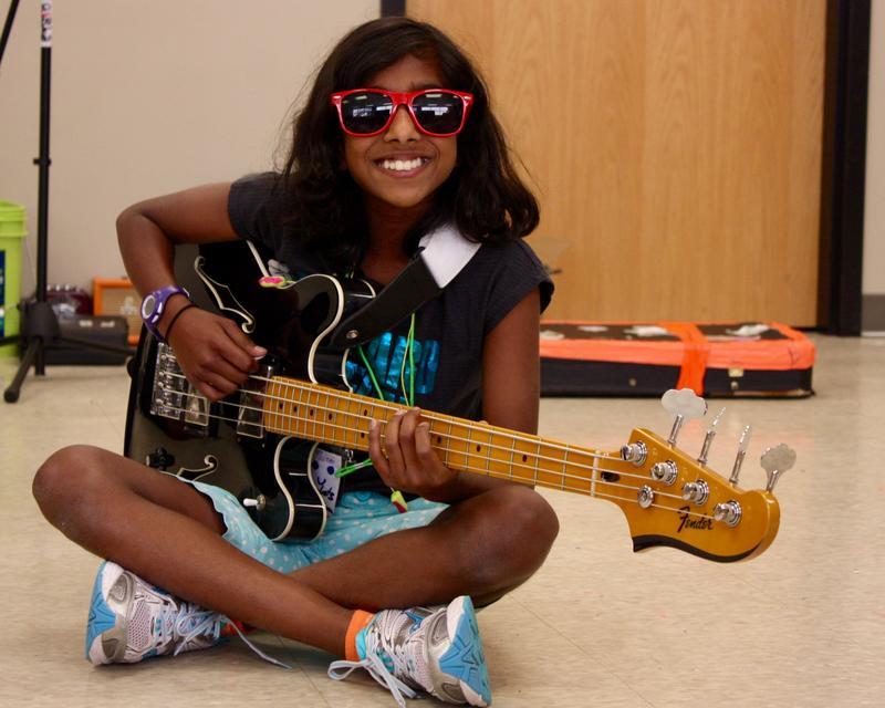 Girls Rock Detroit camper Meera Ramaswami