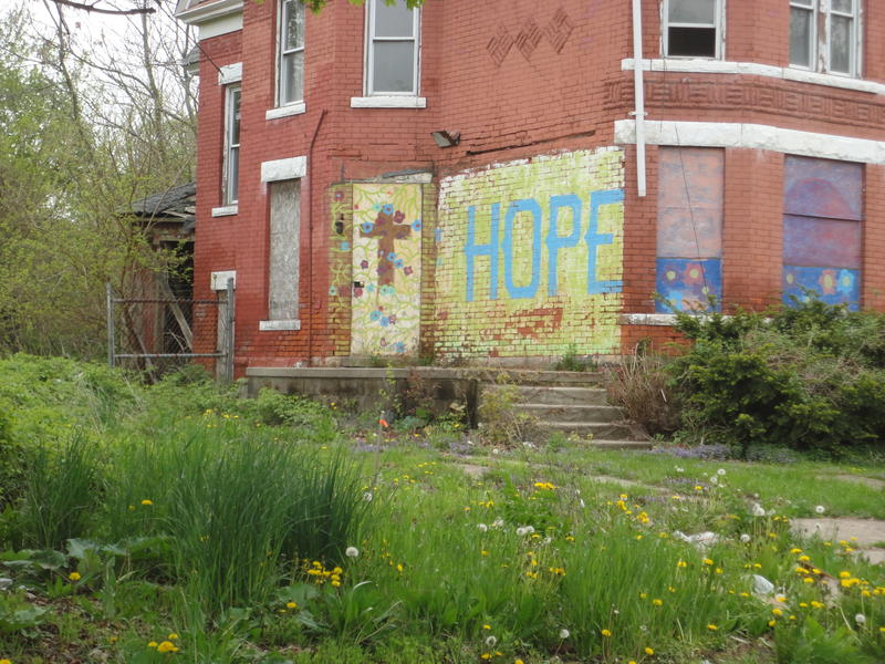 A building moral in Detroit's North End.