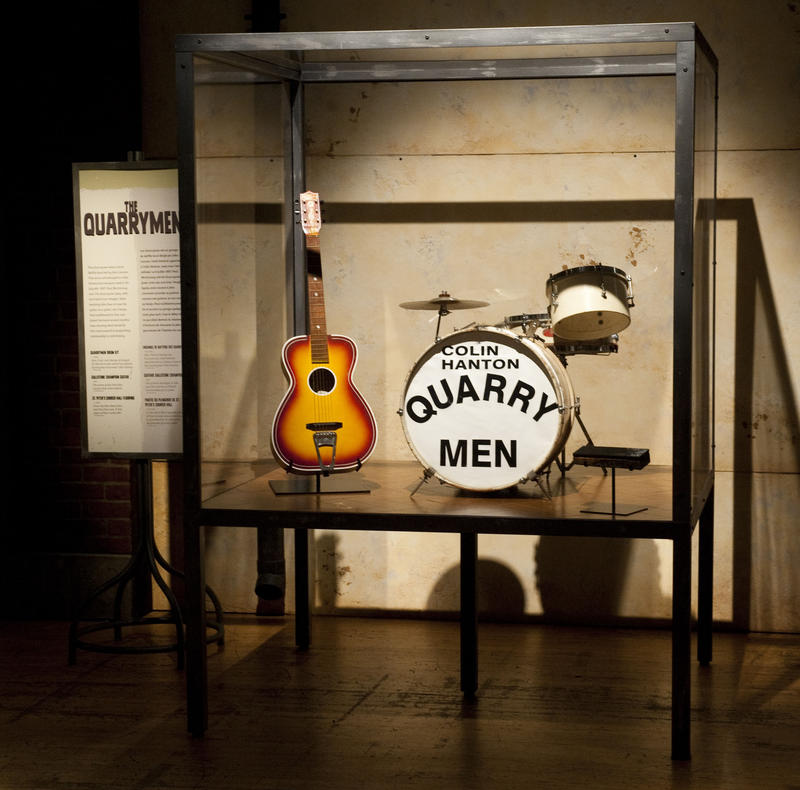 The original Quarrymen drum set. This was John's first band that eventually became the Beatles.