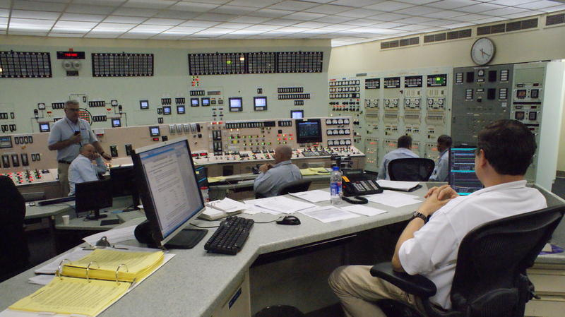A file photo of the control room at Palisades Power Plant.