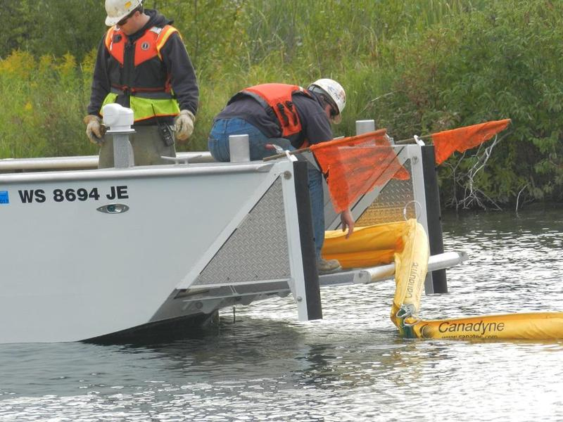 More than 200 first responders took part in a mock oil spill in the Indian River in 2014.