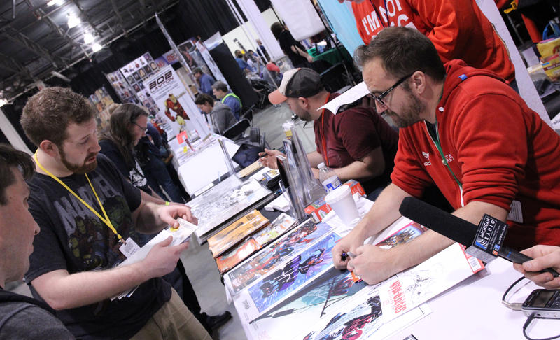 Marvel Comics artist Ryan Stegman at 2016 Motor City Comic Con