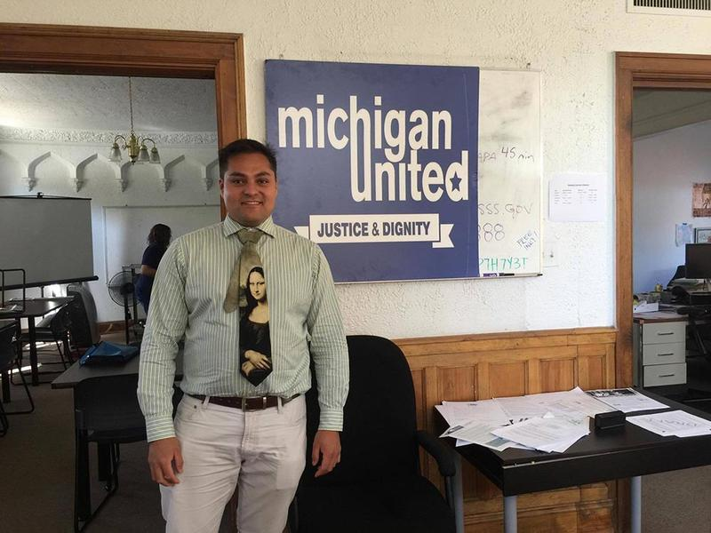 """""""To see the pain that these families have to face, especially the children, it reminds me of why we do what we do,"""" says Adonis Flores, board member at Michigan United"""