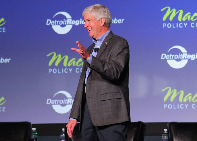 Governor Snyder at the Mackinac Policy Conference in 2014
