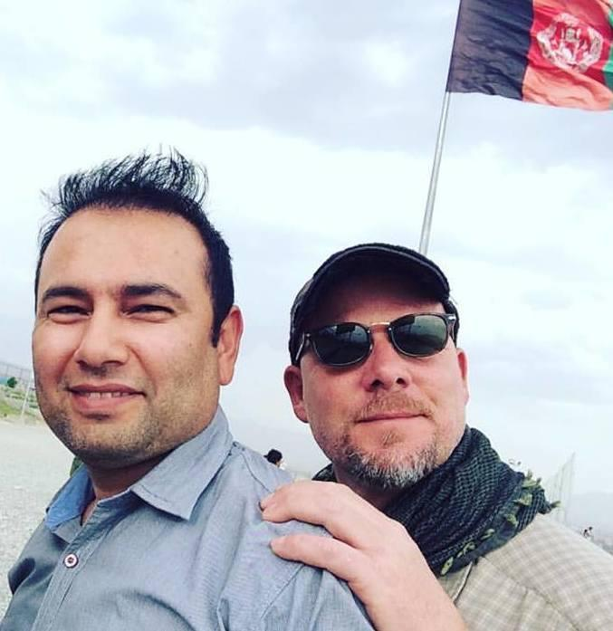 David Gilkey, right, pictured with NPR translator Zabihullah Tamanna.