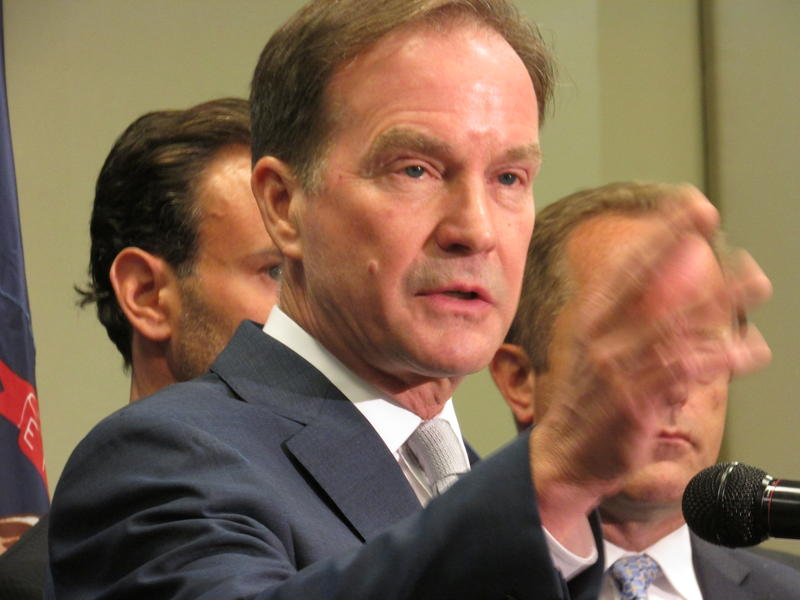 Michigan AG Bill Schuette announces civil suits against three companies involved in the Flint water crisis.