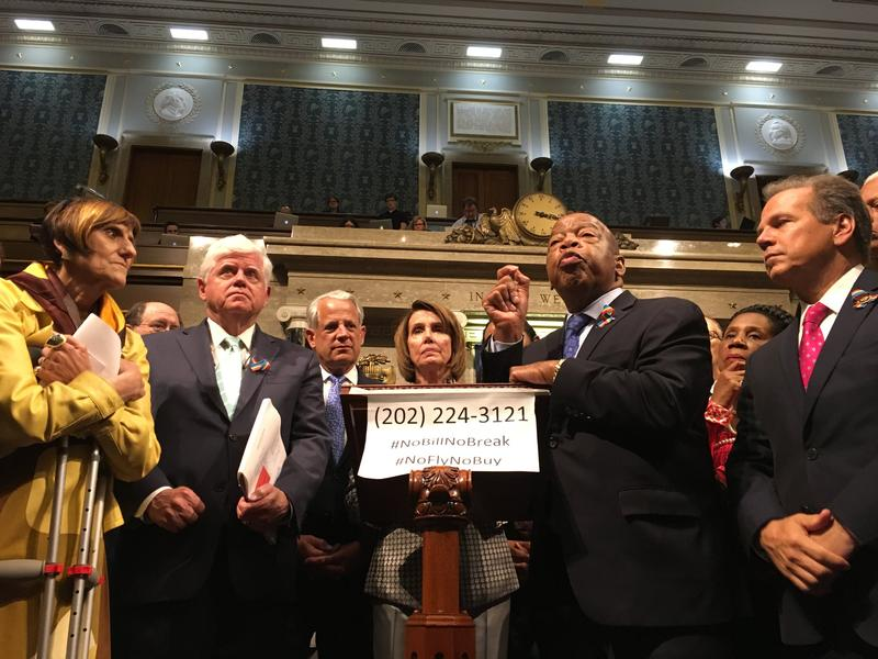 House Democrats say their final remarks as their sit-in on gun control comes to an end.