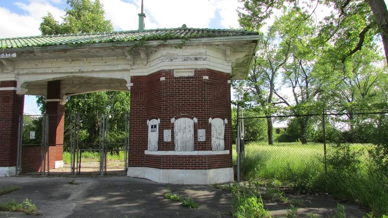 The old gate would still stand under plans to find new uses for the old Saginaw County Fairgrounds