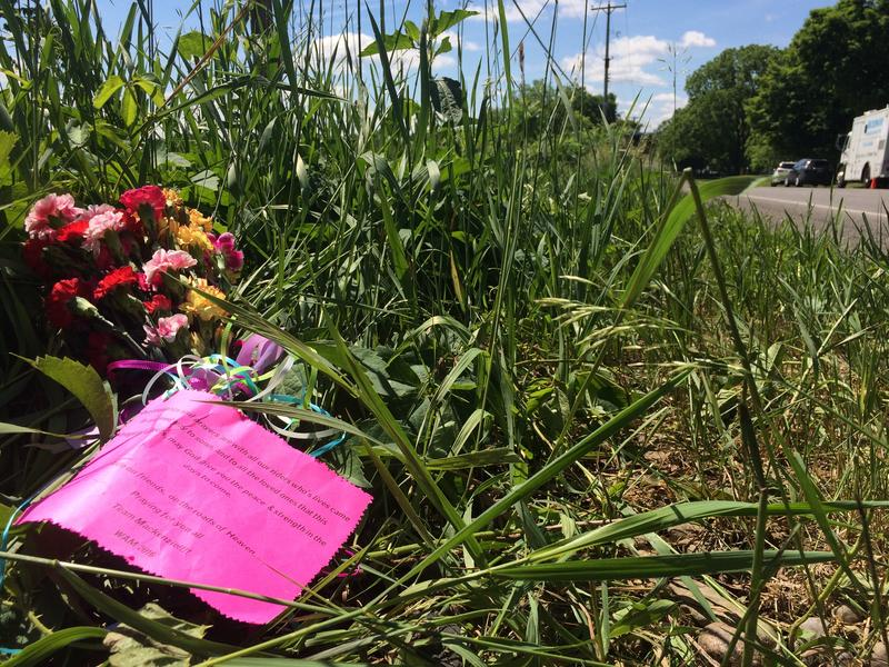 The tributes and memorials to the nine victims of Tuesday's crash north of Kalamazoo grew among the lush grass as the day wore on