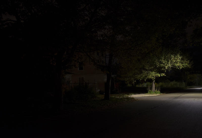 """Overnight"" shows the transition from sodium vapor lamps to LED lights in Detroit."