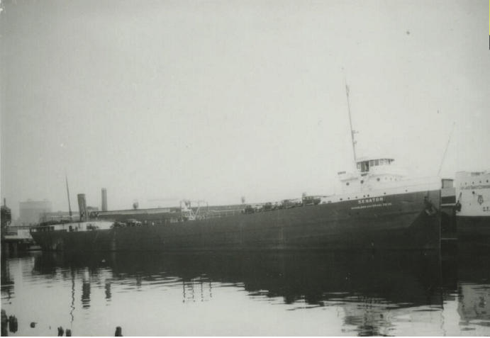 The SS Senator before it sunk into Lake Michigan, 15 miles from Port Washington, Wisconsin.