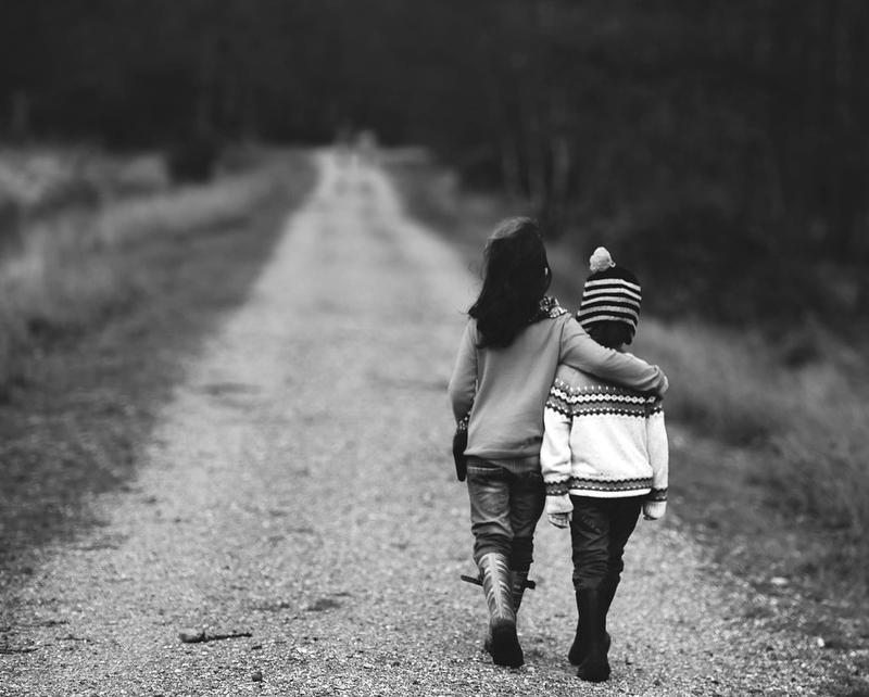 Children walking down a path together