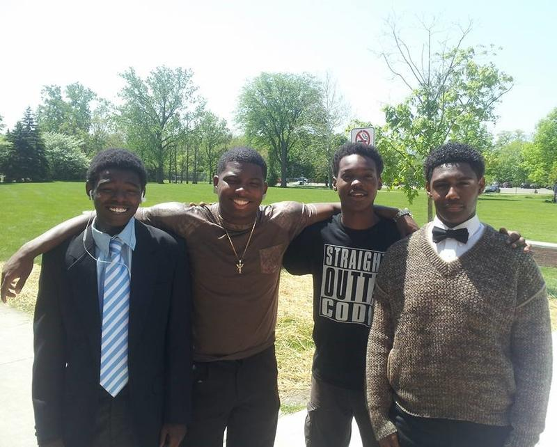 From left to right: Patrick Harris, Reginald Franklyn, Slytazion Sanders, and Dominick Williams.