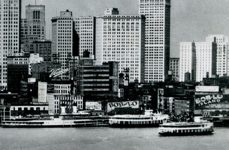 Detroit skyline in 1930.