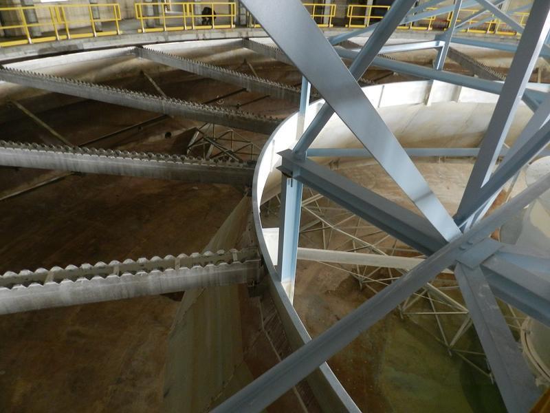 Inside the Flint water treatment plant.
