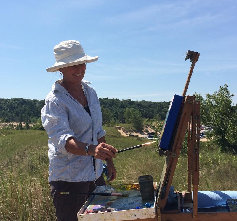 Anne Corlett painting in Michigan