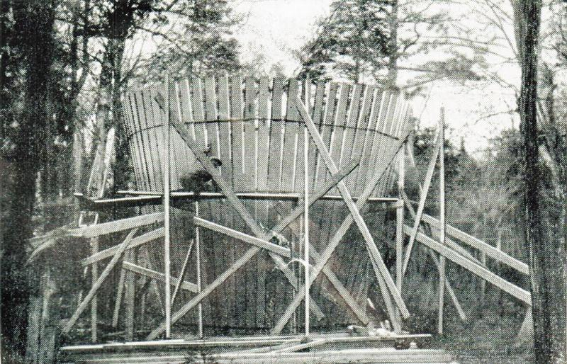 The cottage was constructed just like a regular barrel, but on a much larger scale.