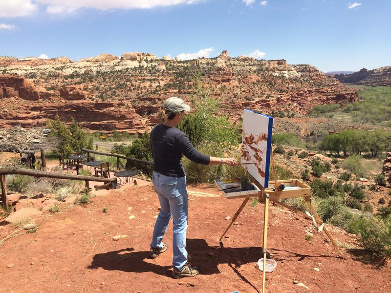 Anne Corlett painting in Utah