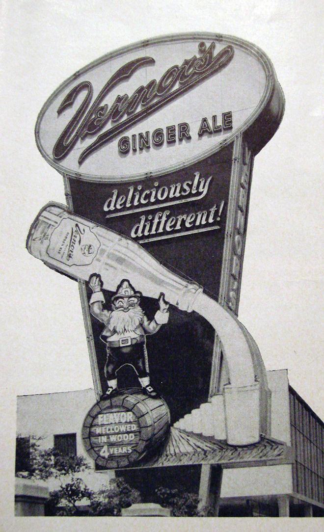 Vernor's sign circa 1950.