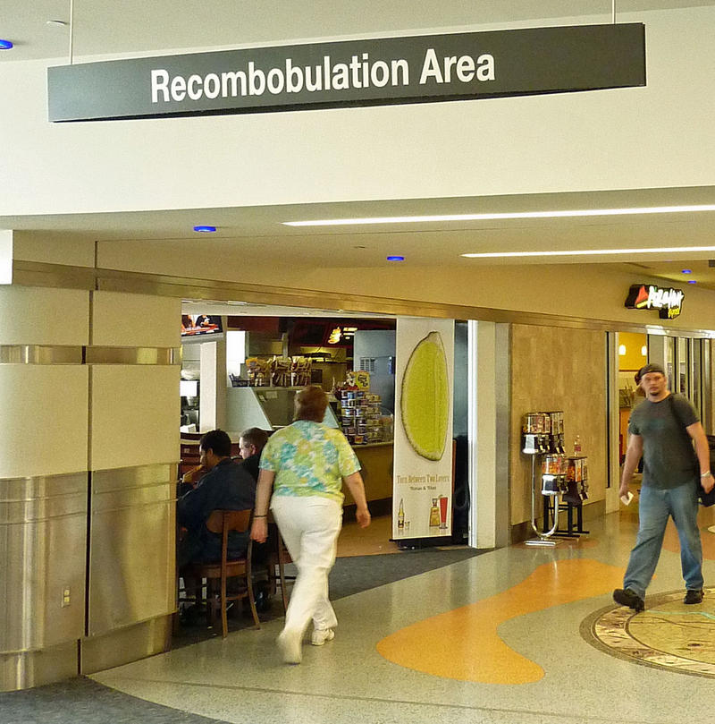 "In 2008, the American Dialect Society voted the ""recombobulation area"" in the Mitchell International Airport in Milwaukee as the most creative word of the year."
