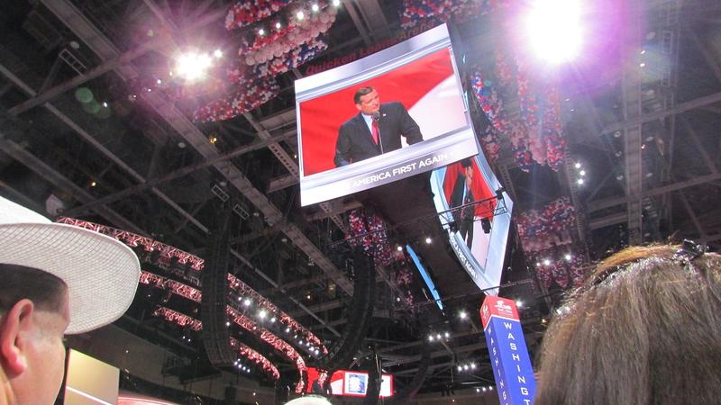 Sen. Ted Cruz (R-TX) exited the stage at the RNC to a chorus of boos from Donald Trump supporters after he didn't endorse the party's presidential nominee.