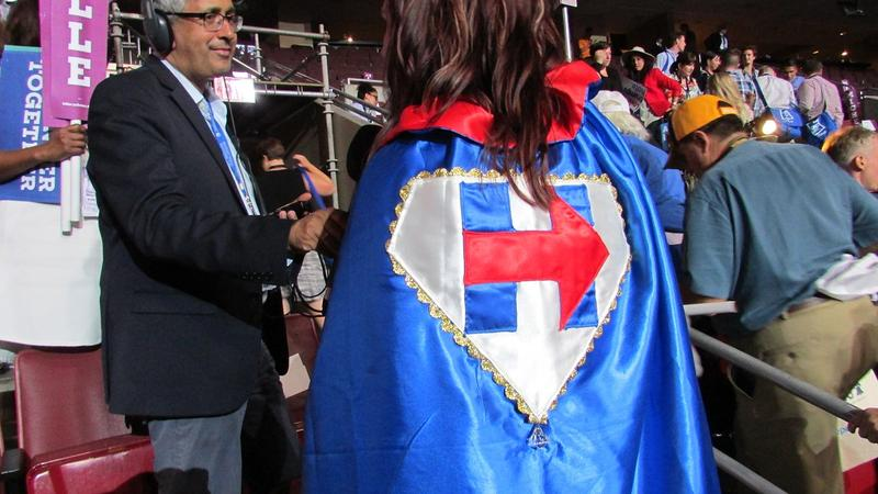 A Hillary Clinton supporter at the DNC.