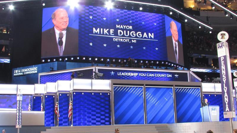 Detroit Mayor Mike Duggan addressed the Democratic National Convention last night