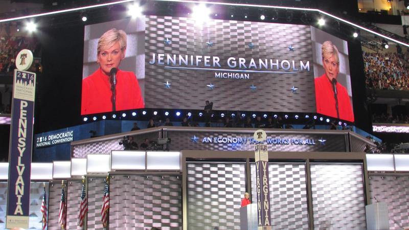 """Here's what I know: We have to stop Donald Trump!"" former Michigan Gov. Jennifer Granholm told the DNC."