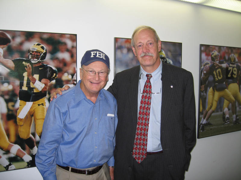 Bo Schembechler and Greg Stejskal