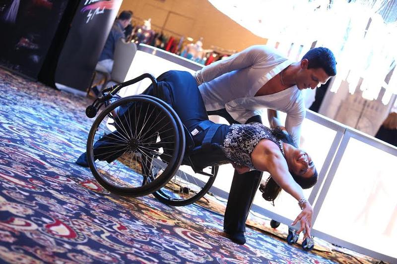 Cheryl Angelelli poses with her partner Tamerlan Gadirov in Las Vegas.
