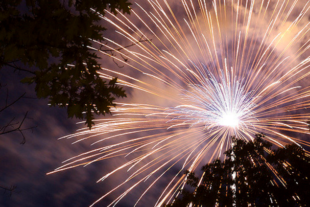 There's no telling where the sparks from fireworks  will land. When the land is dry, that's a safety concern.