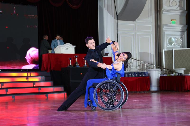Here the pair performs at the Dancing World Championships.