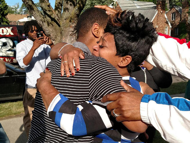 After nearly nine years of wrongful imprisonment, Davontae Sanford is reunited with his mom, Taminko Sanford, this summer