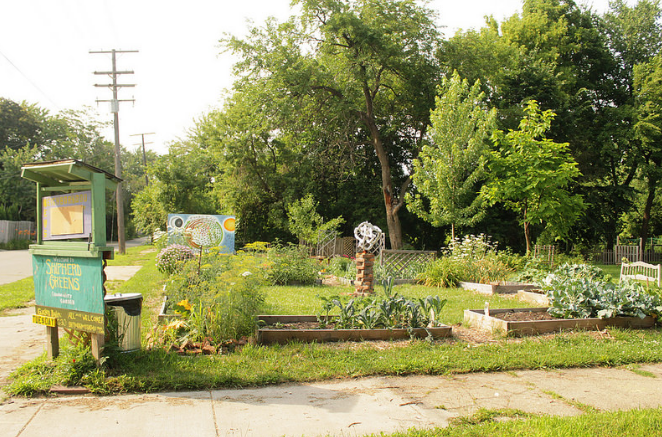 Urban farming is one way public space is being used in Detroit.