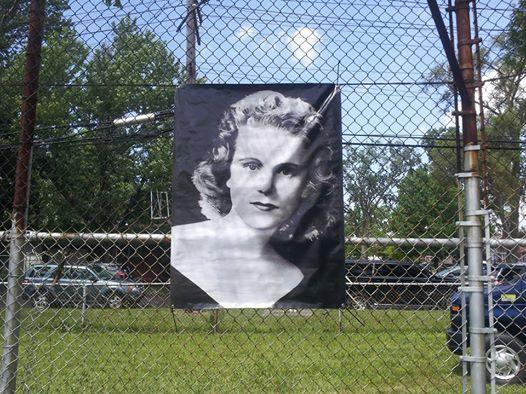 A picture of Viola Liuzzo, in the park that bears her name.